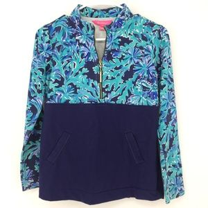 LILLY PULITZER STYLE 000141 ASHER POPOVER PULLOVER